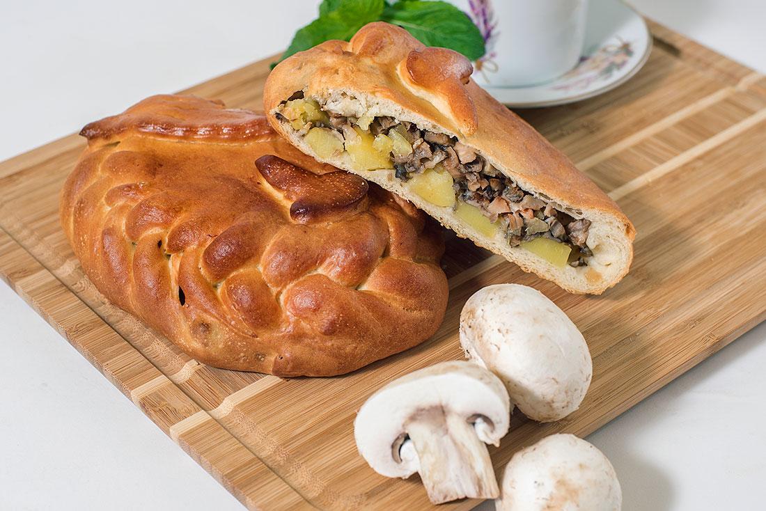 Пирог с грибами и картофелем СП 1кг