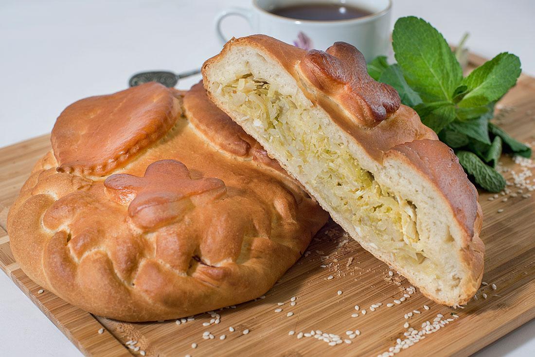 Пирог с капустой и яйцом 1кг СП